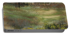 Landscape With Smokestacks Portable Battery Charger