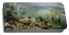 Landscape With The Fall Of Icarus Portable Battery Charger
