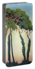 Landscape With Trees Portable Battery Charger