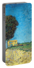 Portable Battery Charger featuring the painting Lane Near Arles by Van Gogh