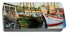 Lannon And Ardelle Gloucester Ma Portable Battery Charger by Eileen Patten Oliver