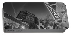 Lansdowne Street Fenway Park House Of Blues Boston Ma Black And White Portable Battery Charger