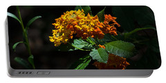 Lantana Flowers Portable Battery Charger by Kenneth Albin