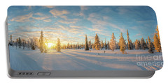Lapland Panorama Portable Battery Charger by Delphimages Photo Creations
