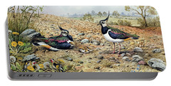 Lapwing Family With Goldfinches Portable Battery Charger