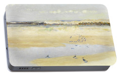 Lapwings By The Sea Portable Battery Charger by William James Laidlay