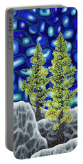 Portable Battery Charger featuring the painting Larch Dreams 1 by Rebecca Parker