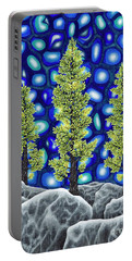 Portable Battery Charger featuring the painting Larch Dreams 2 by Rebecca Parker
