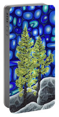 Portable Battery Charger featuring the painting Larch Dreams 3 by Rebecca Parker