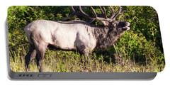 Large Bull Elk Bugling Portable Battery Charger