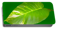 Portable Battery Charger featuring the digital art Large Leaf Art by Francesca Mackenney