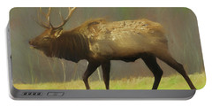 Large Pennsylvania Bull Elk. Portable Battery Charger