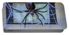 Large Scary Spider  Portable Battery Charger by Garry Gay