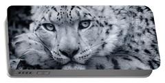 Large Snow Leopard Portrait Portable Battery Charger