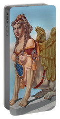 Large Sphinx Of The Vienna Belvedere Portable Battery Charger
