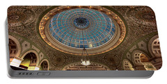 Largest Tiffany Glass Dome - Chicago Portable Battery Charger