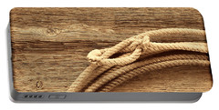 Lariat On Wood Portable Battery Charger