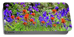 Larkspur And Paint Brush Portable Battery Charger