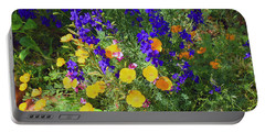 Larkspur And Primrose Garden Portable Battery Charger