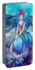 Portable Battery Charger featuring the painting Larmina by Mo T