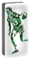 Larry Bird Boston Celtics Pixel Art 10 Portable Battery Charger