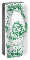 Larry Bird Boston Celtics Pixel Art 5 Portable Battery Charger