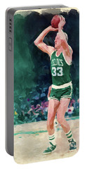 Larry Bird Paint Portable Battery Charger
