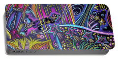 Portable Battery Charger featuring the painting Las Vegas by Leon Zernitsky
