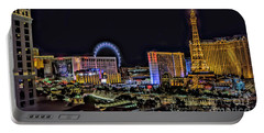 Las Vegas Night Skyline Portable Battery Charger