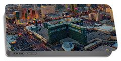Portable Battery Charger featuring the photograph Las Vegas Nv Strip Aerial by Susan Candelario