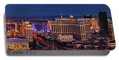 Portable Battery Charger featuring the photograph Las Vegas Panoramic Aerial View by Susan Candelario