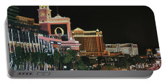 Las Vegas Strip Oil On Canvas Portable Battery Charger