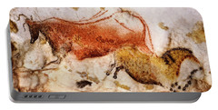 Lascaux Cow And Horse Portable Battery Charger