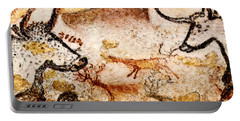 Lascaux Hall Of The Bulls - Deer Between Aurochs Portable Battery Charger
