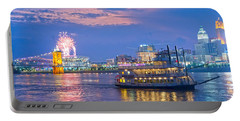 Laser Show Over Paul Brown Stadium  Portable Battery Charger