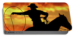 Lasso Sunset Cowboy Portable Battery Charger