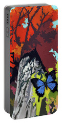 Last Butterfly Before Winter Portable Battery Charger