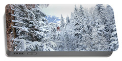 Portable Battery Charger featuring the photograph Last Cabin Standing- by JD Mims