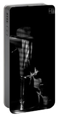 Last Call In Black And White Portable Battery Charger