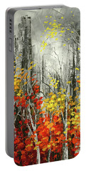 Portable Battery Charger featuring the painting Last Dance by Tatiana Iliina