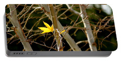 Portable Battery Charger featuring the photograph Last Leaf by Kume Bryant