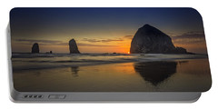 Last Light At Cannon Beach Portable Battery Charger