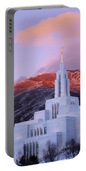 Last Light At Draper Temple Portable Battery Charger