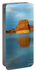 Portable Battery Charger featuring the photograph Last Light At Lone Rock by Mike Dawson