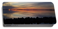 Portable Battery Charger featuring the photograph Last Light by Liza Eckardt