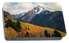 Portable Battery Charger featuring the photograph Last Light Of Autumn by David Chandler