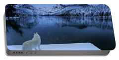 Portable Battery Charger featuring the photograph Last Light On Frozen Cascade Lake by Sean Sarsfield