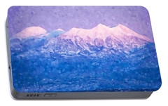 Portable Battery Charger featuring the digital art Last Light On Mount Peale From Buck Canyon Overlook by Kai Saarto