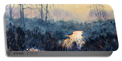 Last Light On Skipwith Marshes Portable Battery Charger
