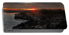 Portable Battery Charger featuring the photograph Last Light Over North Head Sydney by Miroslava Jurcik